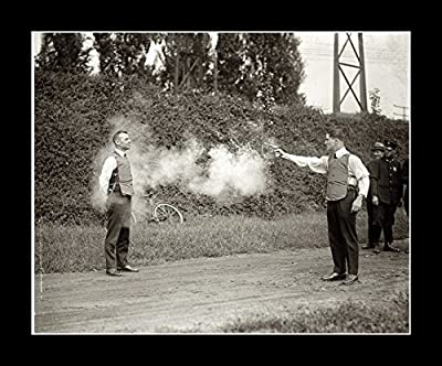 8 x 10 All Wood Framed Photo Testing A Bulletproof Vest, 1923 Brave Man by Gatsbe Exchange that we recomend personally.