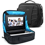 "In-Car Portable DVD Player Travel Display Case w/ Headrest Mount & Accessory Pockets by USA GEAR - Works w/ Sylvania SDVD1048 , Philips PD9012 , Ematic EPD909 & More 7-10"" Portable DVD Players"