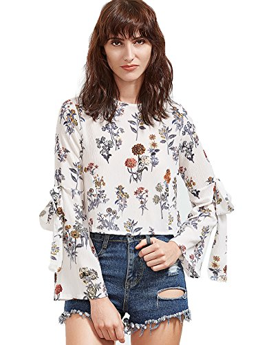 Floerns Womens Floral Sleeve Blouse product image