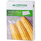 "GERYON Vacuum Sealer Bags 100 Quart Size 8""x11.5"", 4 Mil Embossed Commercial Grade Sous Vide Bags for Food Storage Saver"