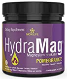 MOXiLIFE HydraMag 100% Chelated Magnesium Supplement: GI Friendly Magnesium Lysinate Glycinate Chelate Sports Nutrition & Dietary Powder - High Absorption Powdered Drink Mix - 30 Servings, Pomegranate
