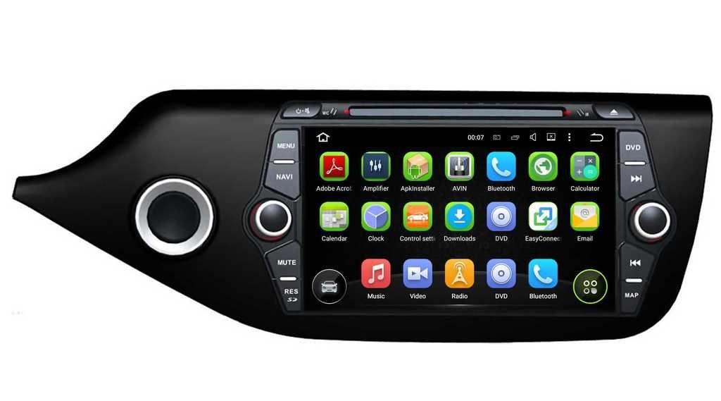 2 Din 8 pouces Android 5.1.1 Lollipop stéréo de voiture pour Kia Ceed 2014 2015,DAB+ radio 1024x600 écran tactile capacitif avec Quad Core Cortex A9 1.6G CPU 16G flash et 1G de RAM DDR3 GPS Navi Radio Lec