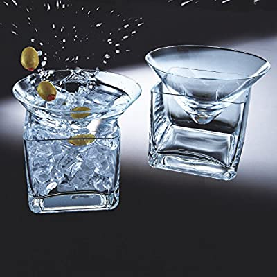 Wine Enthusiast Midtown Martini Chillers, Set of 2