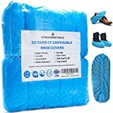 Strongman Tools   110 Pack Extra Thick Disposable Shoe & Boot Covers   Durable & Water Resistant   Anti-Slip   One Size Fits Most