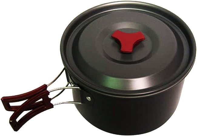 3L Oxidation Aluminum Large Single Pot Portable Non-stick Outdoor Hiking Camping
