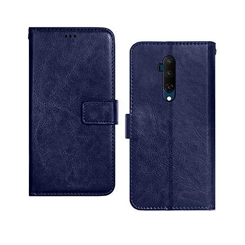 Pinaaki Enterprises Flip Cover for OnePlus 7T Pro  Faux Leather_Blue