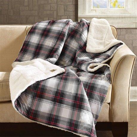 Woolrich Ridley Softspun Down Alternative Oversized Throw Blanket, 50