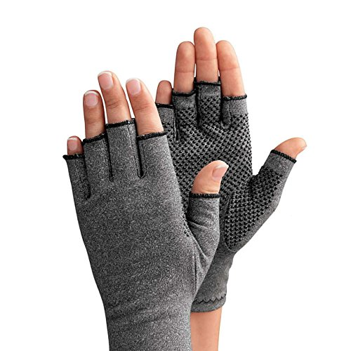 JCMD 1 Pair Arthritis Gloves Therapeutic Compression Men Woman Circulation Grip, Compression Arthritis Gloves (Medium) by JCMD