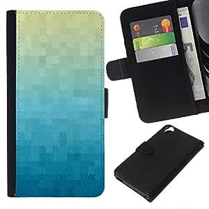 Planetar® Modelo colorido cuero carpeta tirón caso cubierta piel Holster Funda protección Para HTC Desire 820 ( Wallpaper Plaid Pattern Blue )