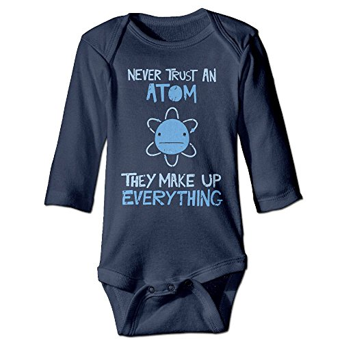 Fashion Baby Boys & Girls Never Trust An Atom They Make Up Everything Long-sleeve Jumpers (Cute Leopard Halloween Makeup)