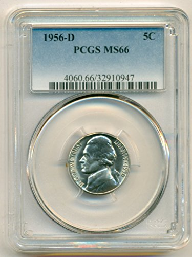 1956 D Jefferson Nickel MS66 PCGS