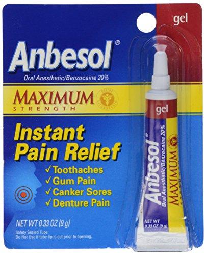 Anbesol Force Maximum Gel anesthésique par voie orale, 0,33 once Tube