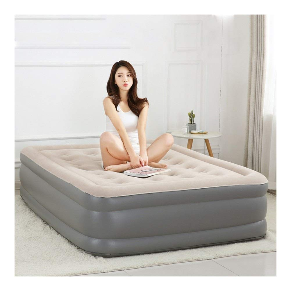 Inflatable Mattress Double Air Bed Thicken Flocking Inflatable Bed Outdoor Travel Bed Camping Rest Portable Air Bed CIM0910 (Size : 190x140x45cm) by ZCY-Auto Mattress