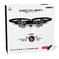 UDI HD+ Drone with Camera (Lime Green), Bonus Battery & 1-Key Control - Easy-Fly Drones for Kids Camera Drone Features Headless Mode & 720p HD Drone Camera - UDI Drones with Camera (Model U818A)