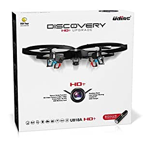 UDI U818A HD+ Drone with Camera and Headless Mode | 2.4Ghz RC Camera Drone Quadcopter | Quadruples Your Flying Time with EXTRA BATTERY + POWER BANK