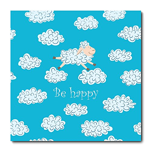 Placa Decorativa - Be Happy - Infantil - 1467plmk