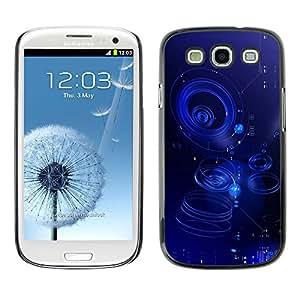 Paccase / SLIM PC / Aliminium Casa Carcasa Funda Case Cover para - Ripple Blue Water Abstract Puddle - Samsung Galaxy S3 I9300