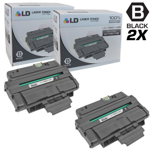 - LD Compatible Toner Cartridge Replacement for Xerox 106R1486 (Black, 2-Pack)