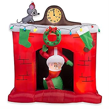 Amazon.com: Gemmy Chimenea Santa 66-inch airblown hinchable ...