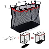 aiMaKE Portable Multifunctional Sturdy Foldable Hanging Camping Organizer Accessory Storage Mesh Bag Kitchen Storage Bag Barbecue Rack for Outdoor Camping BBQ