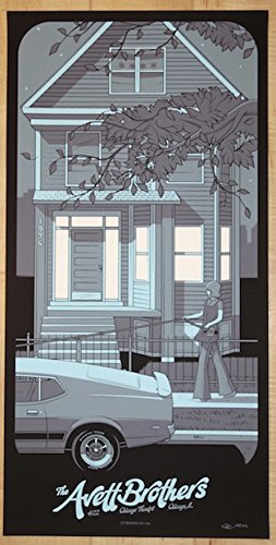 2016 The Avett Brothers - Chicago II Silkscreen Concert Poster by Charles Crisler
