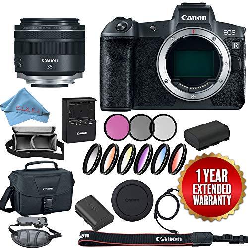 (Canon EOS R Mirrorless Digital Camera 3075C002 + Canon RF 35mm f/1.8 is Macro STM Lens 2973C002 Base Bundle)