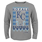MLB Kansas City Royals Youth Boys Light the Tree Short Sleeve Tee, Small (8), Grey