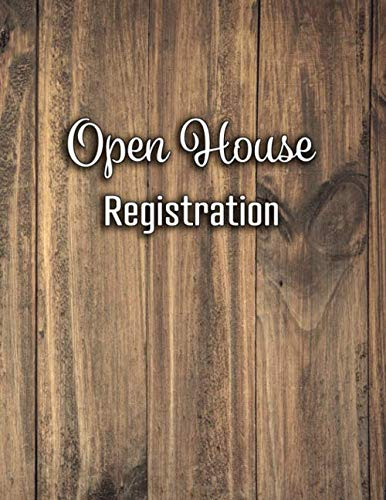 - Open House Registration: Real Estate Sign In Book and Registry with 600 Entries Log In Book For Realtors Brokers Agents and Home Owners (Natural Light Wood Real Estate Sign In Book Series)