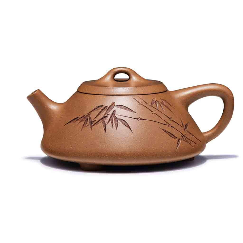 Tea Cozies Zisha Pot Pure Hand-Made Section mud Stone Scoop Xi Shi Antique Household Kung Fu teapot Tea Set (Color : Brown, Size : 16.76.87.8cm)