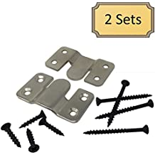 Interlocking Z Clips for Flush Mounting Pictures, Head Boards, & Wall Panels - 2 Sets