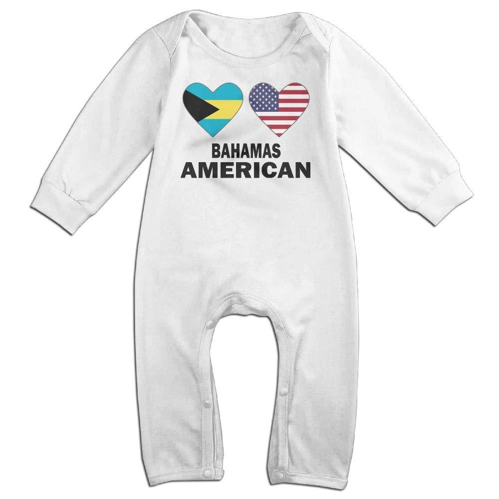 UGFGF-S3 Bahamas American Hearts Long Sleeve Newborn Baby Bodysuit for 6-24 Months Bodysuit