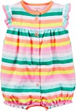 Carter's Baby Girls' Striped Cupcake Snap Up Romper 18 Months