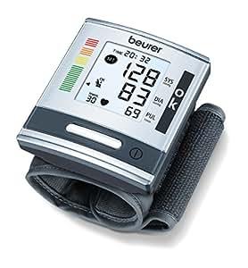 Beurer BC 60 - Tensiómetro de muñecam indicador OMS, indicador posición correcta, color silver/gris