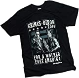 The Walking Dead Men's Grimes Dixon 2016 for A Walker Free America T-Shirt Black 2XL