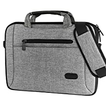 "ProCase 13 - 13.5 Inch Laptop Bag Messenger Shoulder Bag Briefcase Sleeve Case for 13"" Macbook Pro Air Surface Book, 12 13 Inch Laptop Ultrabook Notebook MacBook Chromebook Computer -Grey"