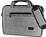 ProCase 11-12 Inch Laptop Bag Messenger Shoulder Bag Briefcase Sleeve Case for 12'' Macbook Surface Pro 2017/Pro 4 3, 11 12 Inch Laptop Ultrabook Tablet Notebook MacBook Chromebook Computer -Grey