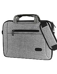 """ProCase 11 - 12 Inch Laptop Bag Messenger Shoulder Bag Briefcase Sleeve Case for 12"""" Macbook Surface Pro 4 3, 11 12 Inch Laptop Ultrabook Tablet Notebook MacBook Chromebook Computer -Grey"""