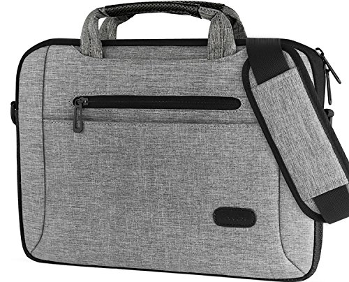 Procase 13-13.5 Inch Laptop Bag Messenger Shoulder Bag Briefcase Sleeve Case for 13″ MacBook Pro Air Surface Book, 12 13 Inch Laptop Ultrabook Notebook MacBook Chromebook Computer -Grey
