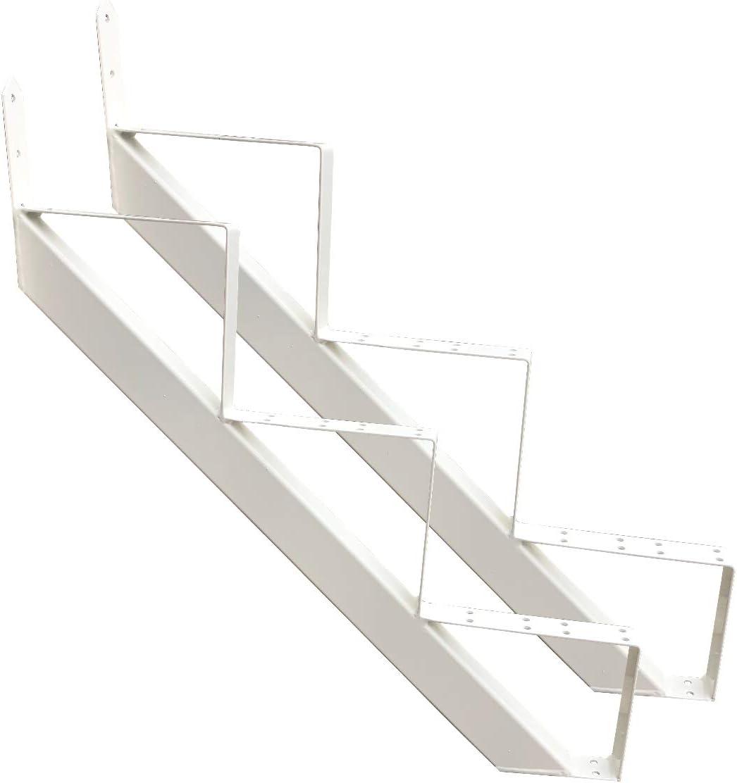 2 stufig 4 stufig Treppenrahmen 2-10 Stufen-Wahl Stahl-Treppe RAL 7016 Anthrazit Treppenholm//W/ählen Sie die Stufen-Anzahl