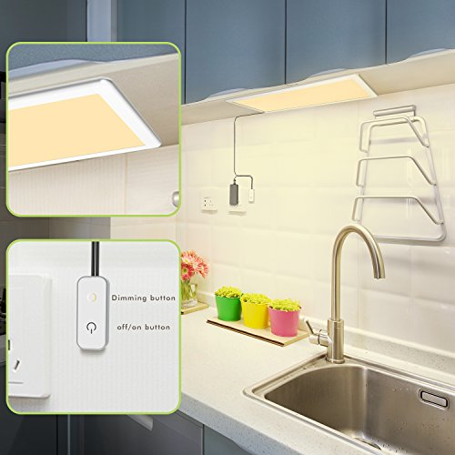 Under Cabinet Lighting, OxyLED Under Cabinet Lights, Extra Large Panel LED Under Cabinet Light, Dimmable LED Under Counter Lights for Kitchen, Art Studio, Attic (12W, 750lm, Warm White 3000K) by OxyLED (Image #1)