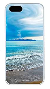 iPhone 5 5S Case Turquoise Beach PC Custom iPhone 5 5S Case Cover White by Maris's Diary