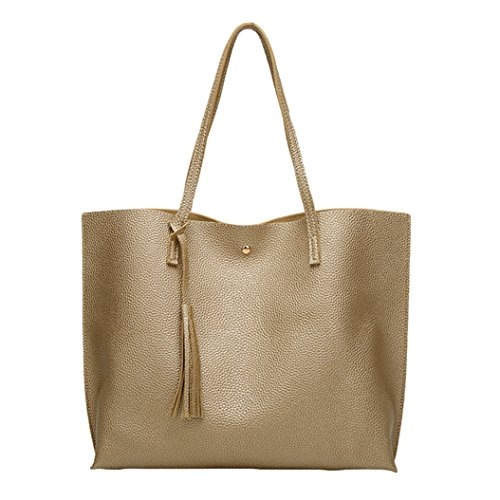 Style Women's Tote Fashion Korean Bag Large Golden Shoulder Handbag Capacity pd1wxSHqv