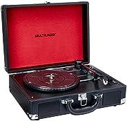 Caixa de Som Vitrola Vinil com Recorder USB/AUX 10W RMS Multilaser - SP267