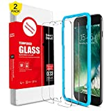 SMARTDEVIL [2 Pack] Screen Protector for iPhone 8 Plus/iPhone 7 Plus, Premium Tempered Glass [Easy Installation Frame],Screen Protector Tempered Glass Film for iPhone 7 Plus/iPhone 8 Plus Film