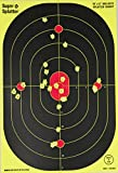 """12"""" X 18"""" Bulleye Splatter Spots Targets 10, 25, 50 100 Packs See Your Hits Instantly (25)"""