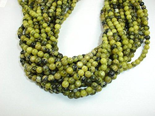 (jennysun2010Natural Yellow Turquoise Gemstone 3mm SmoothRoundLooseBeads Length15.5''Inches(38.5cm)1StrandperBagforBraceletNecklaceEarringsJewelryMakingCraftsDesignHealing)