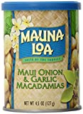 Mauna Loa Macadamias, Maui Onion and Garlic, 4.5 Ounce Containers (Pack of 12)