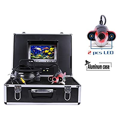 "Vanxse® Professional Underwater Fishing Video Camera Camera Sony CCD 2pcs 2 Walt White Leds 800tvl Hd 7"" Color LCD Hd Monitor 30m Cable Length Fish Finder Camera free DHL Express Shipping from shenzhen kaixing Security technology Co., LTD"