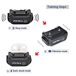 Petrainer PET916-1 Electric Collar for Dog with Remote, Dog Training Shock Collar with Tone / Vibration / Static Shock E-collar, Waterproof and Rechargeable