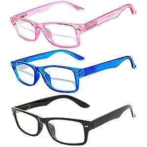 Narrow Retro Fashion Style Rectangular Leopard Blue Black Pink Frame Clear Lens Eyeglasses